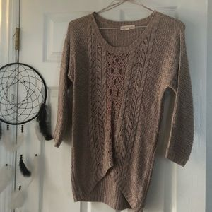 Sweaters - Lace front purple sweater!